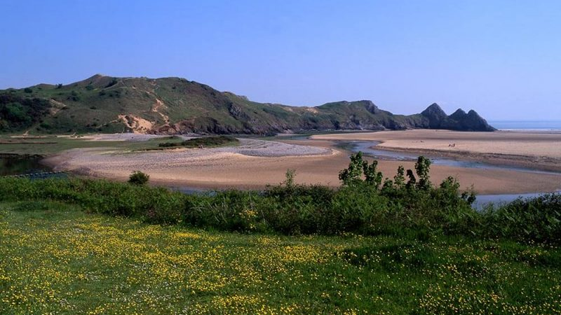 Three Cliffs on Gower Coast Walk - long distance hike in Wales