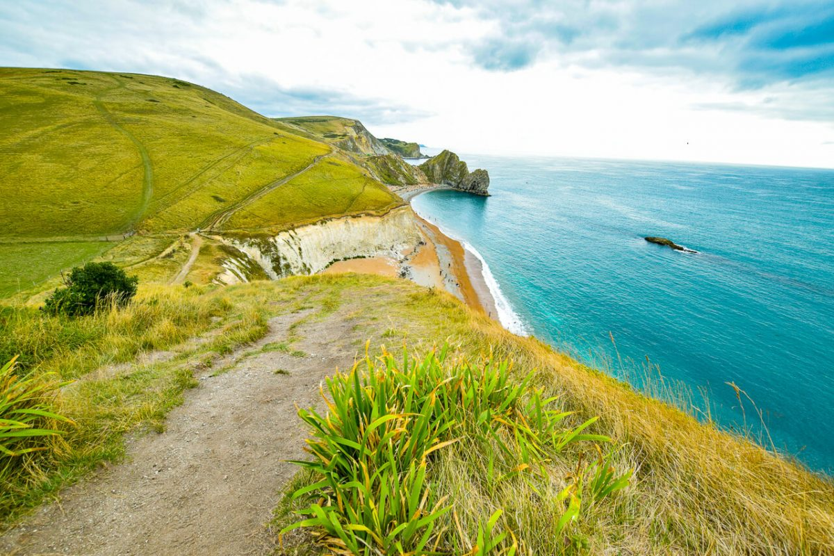Visit Jurassic Coast hike towards Durdle Door