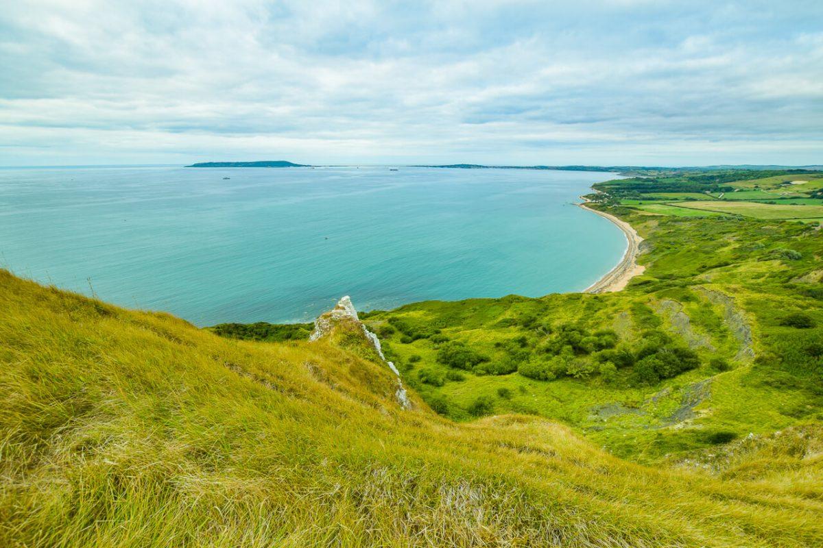 Walking Jurassic Coast in Devon and Dorset, UK