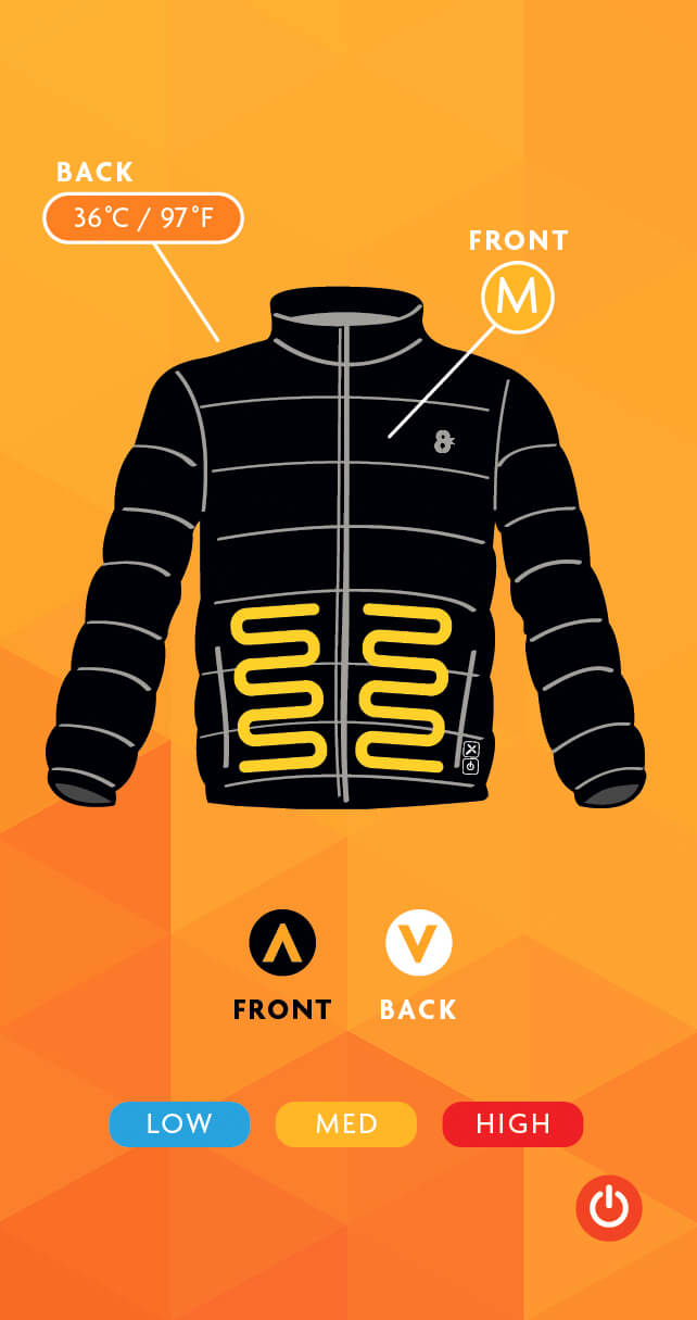 8K-Flexwarm Heated Jacket App