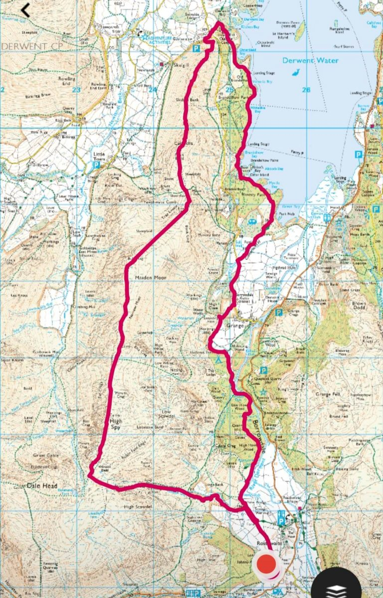 Borrowdale walk 1 - Fell walking Catbells, Maiden Moor + High Spy-2