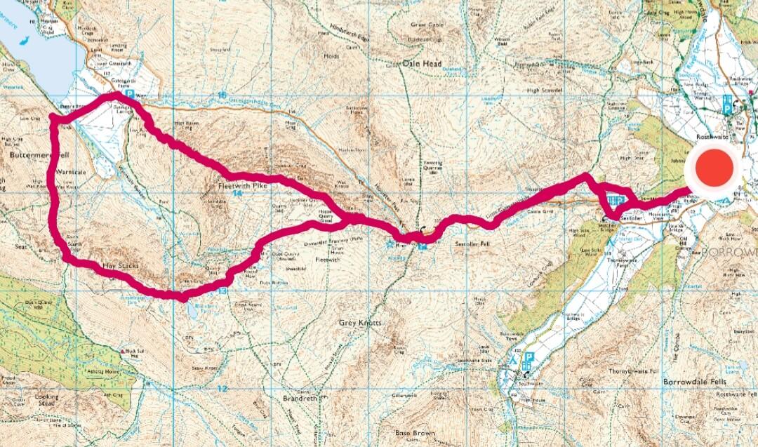 Borrowdale walk 2 - Fell walking Fleetwith Pike, Haystacks-2