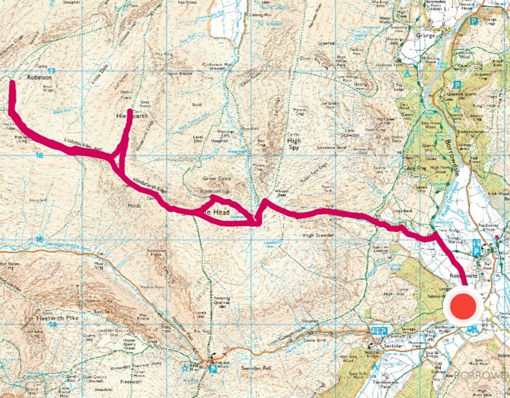 Borrowdale walk 3 - Fell walking Dale Head, Hindscarth, Robinson-2