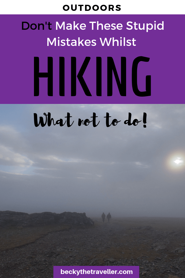 Hiking Mistakes 1