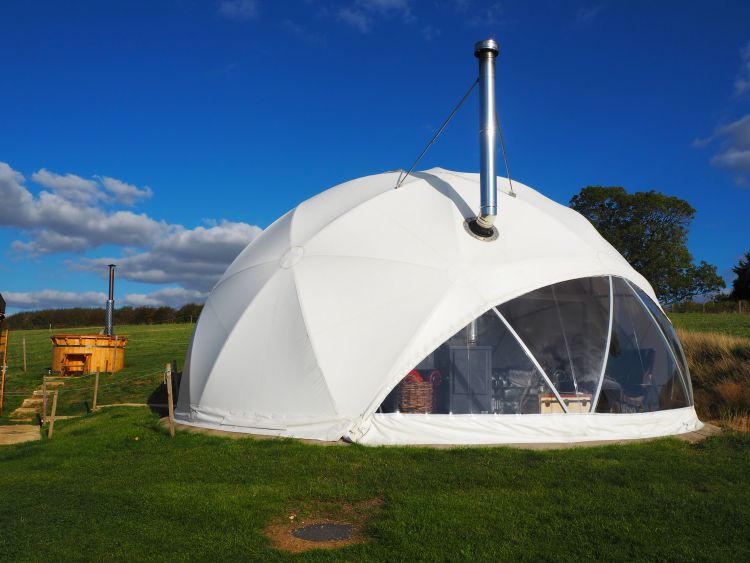 Best glamping places in the UK - Hambleton Dome