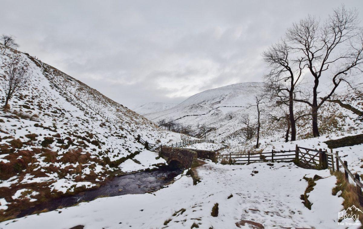 Bottom of Jacobs Ladder in Peak District - Winter walks