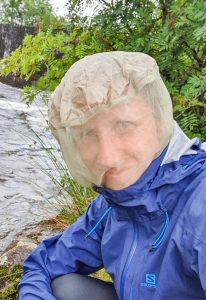 Midge head net for Scotland