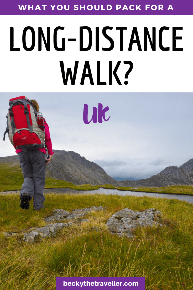 Long distance hiking gear list