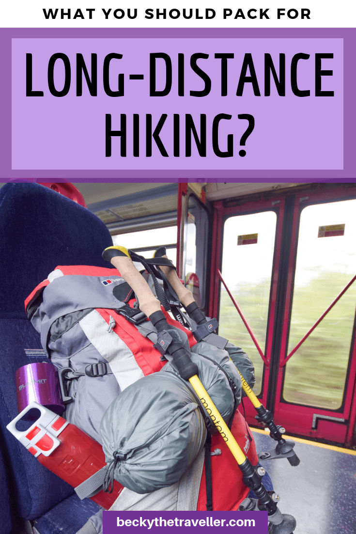 Long distance walk kit list