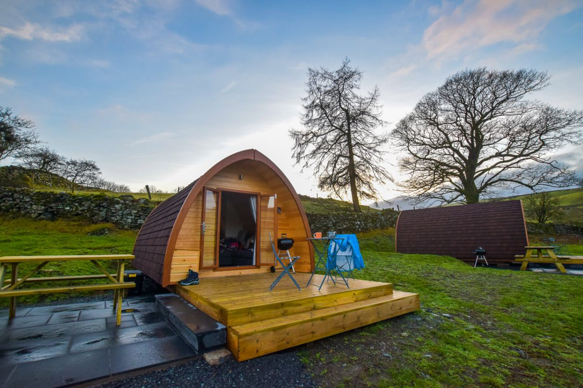 Kentmere Farm Glamping Pods Outside Lake District