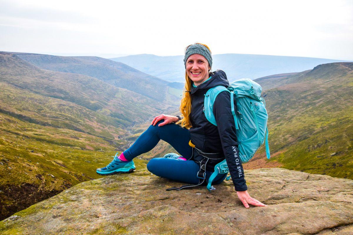 Salomon rucksack and Outline GTX - Peak District