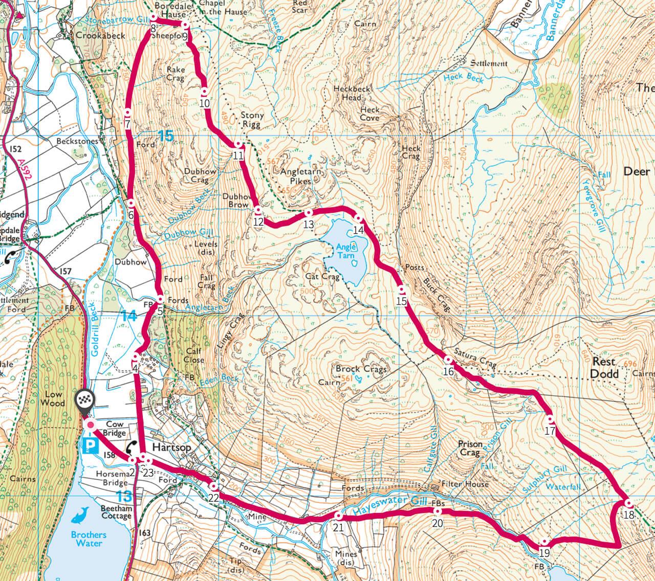Angle Tarn from Hartsop, Lake District