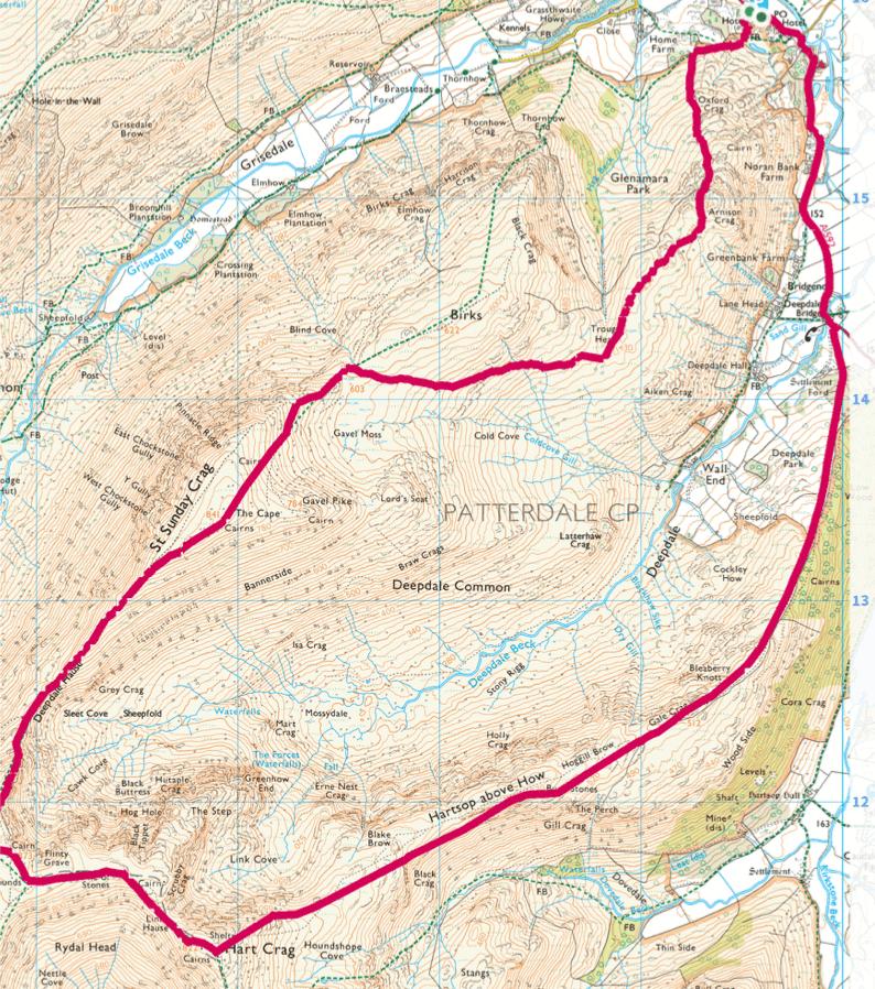 Arnison Crag, Hart Crag walk