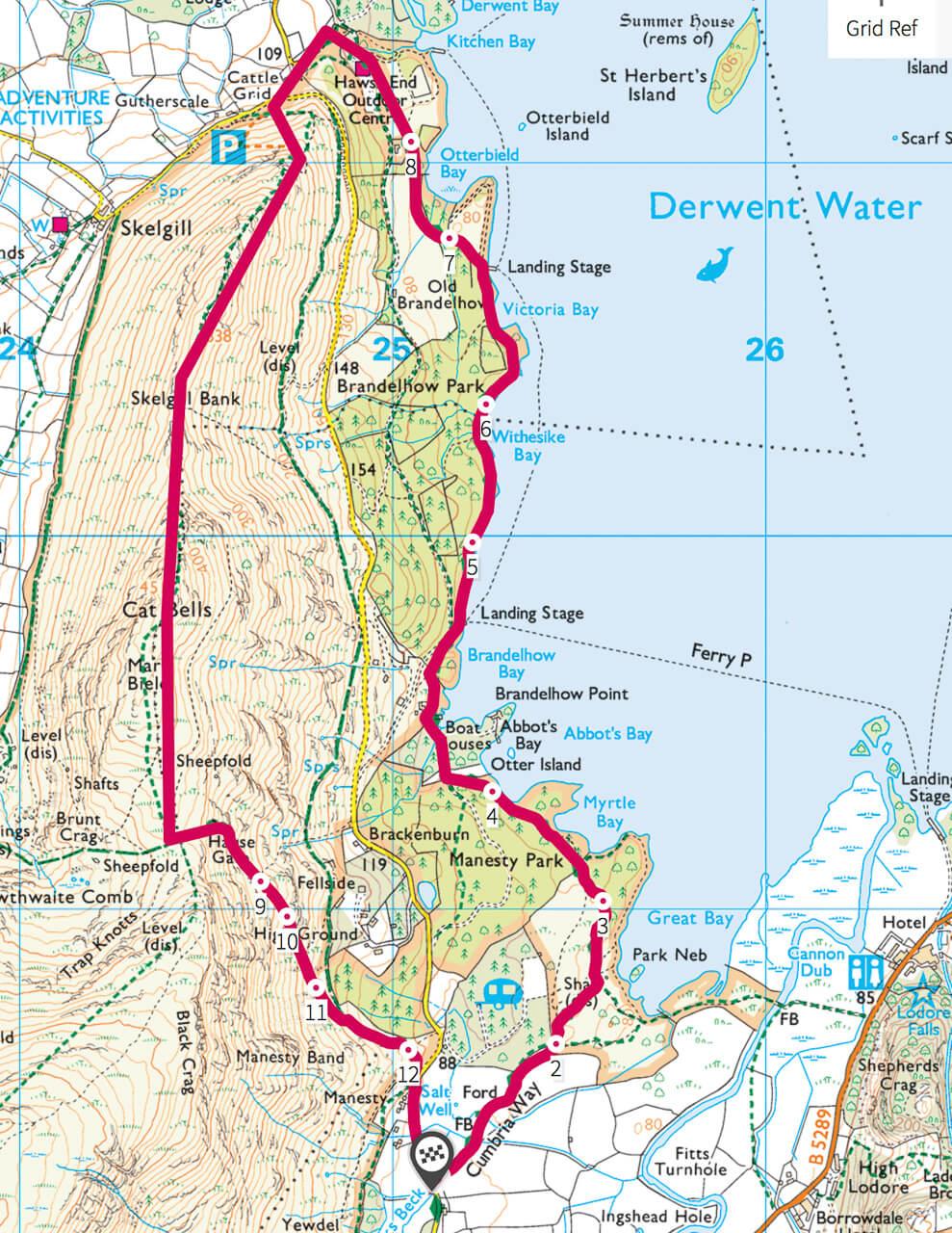 Catbells, best short walk Lake District