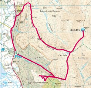 Dodd via Carl Side, Skiddaw and Ullock Pike