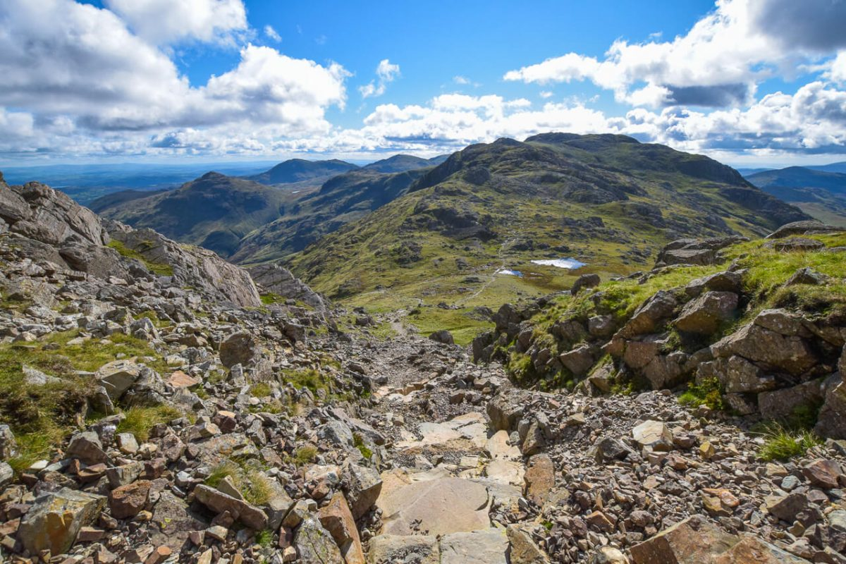 On the way up Bowfell, Lake District