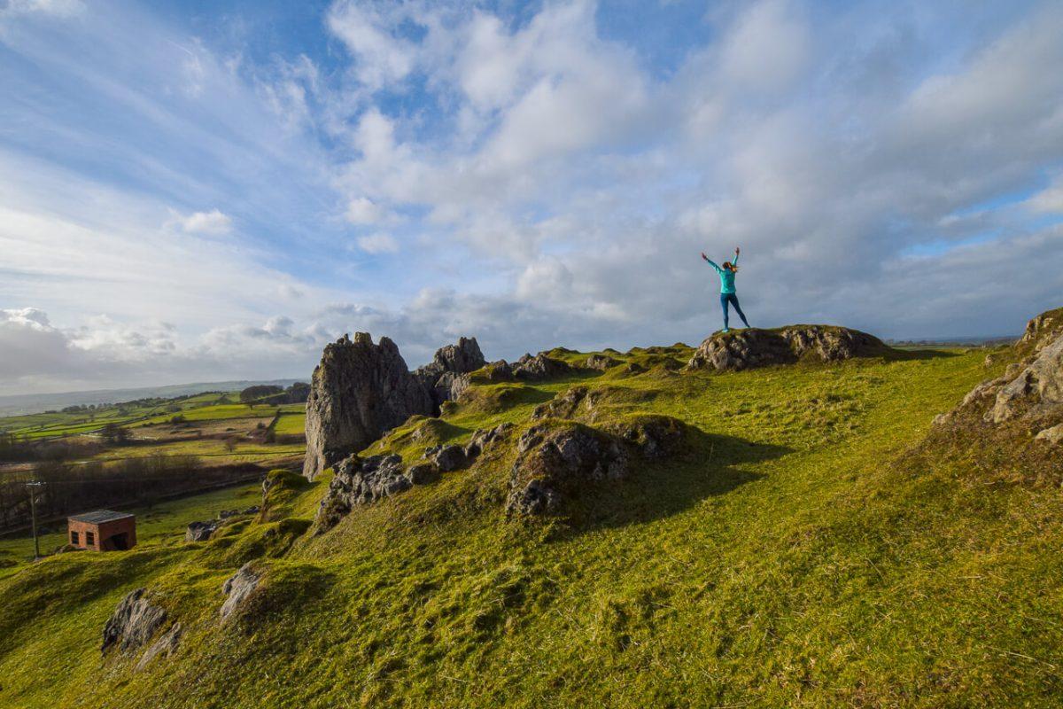 Training in Peak District - Harborough Rocks