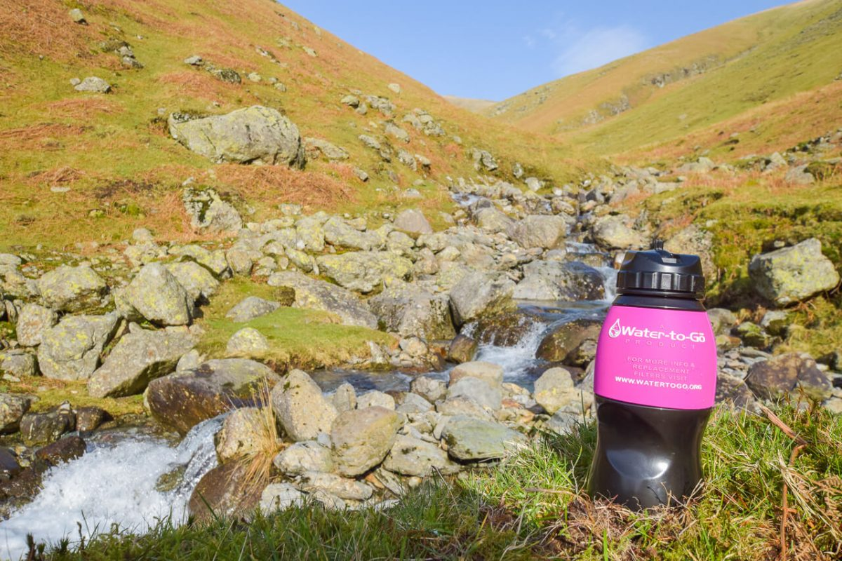 Water-to-Go filter bottle on a Lake District trip