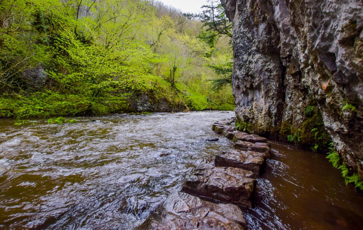 Chee Dale Stepping Stones Peak District