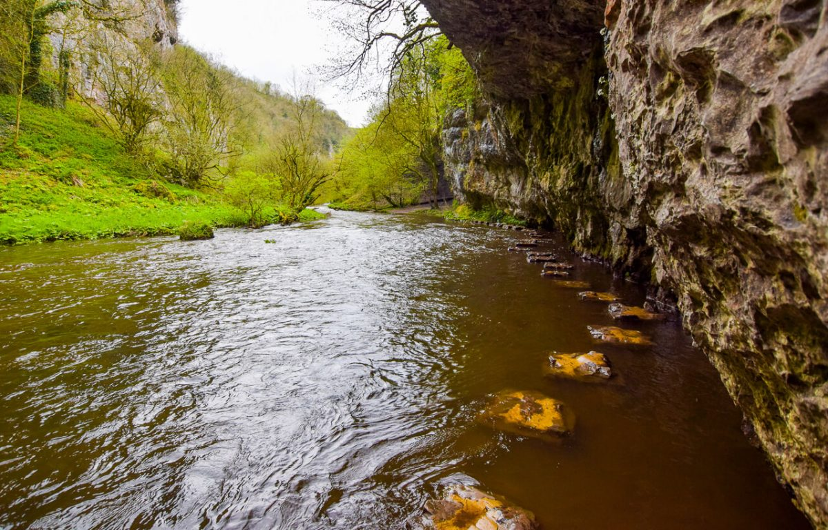 Chee Dale Peak District stepping stones