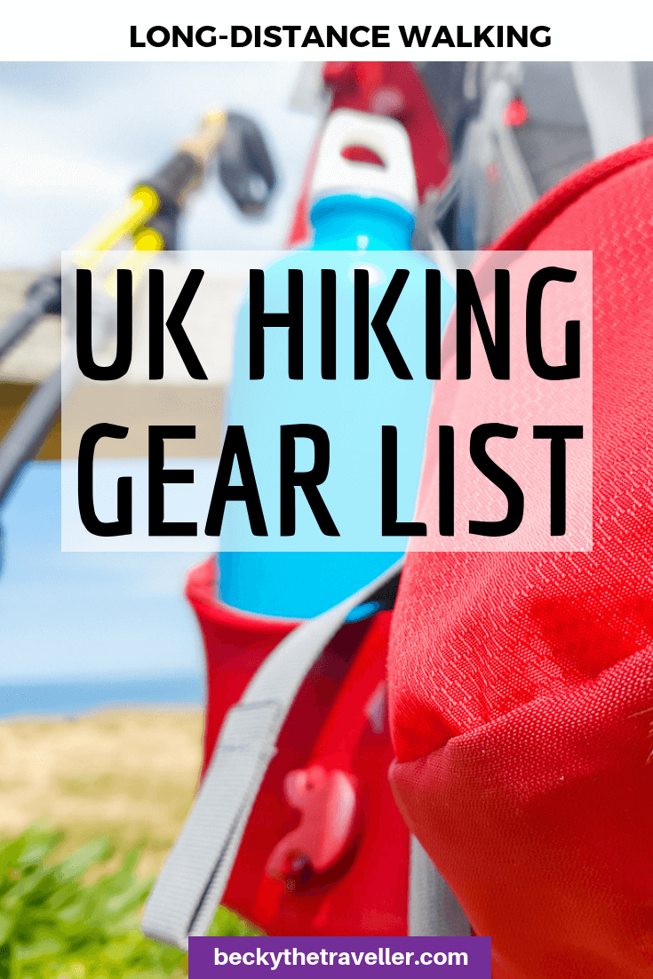 UK Packing list for long-distance hike