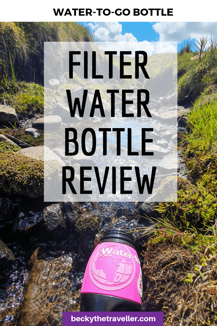 Water to go filter water bottle