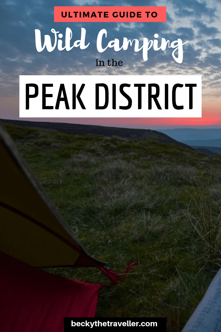 Wild camping spot Peak District