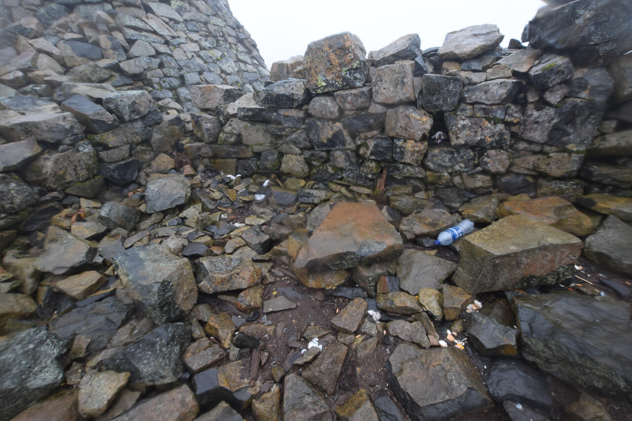 Discarded toilet paper on Ben Nevis