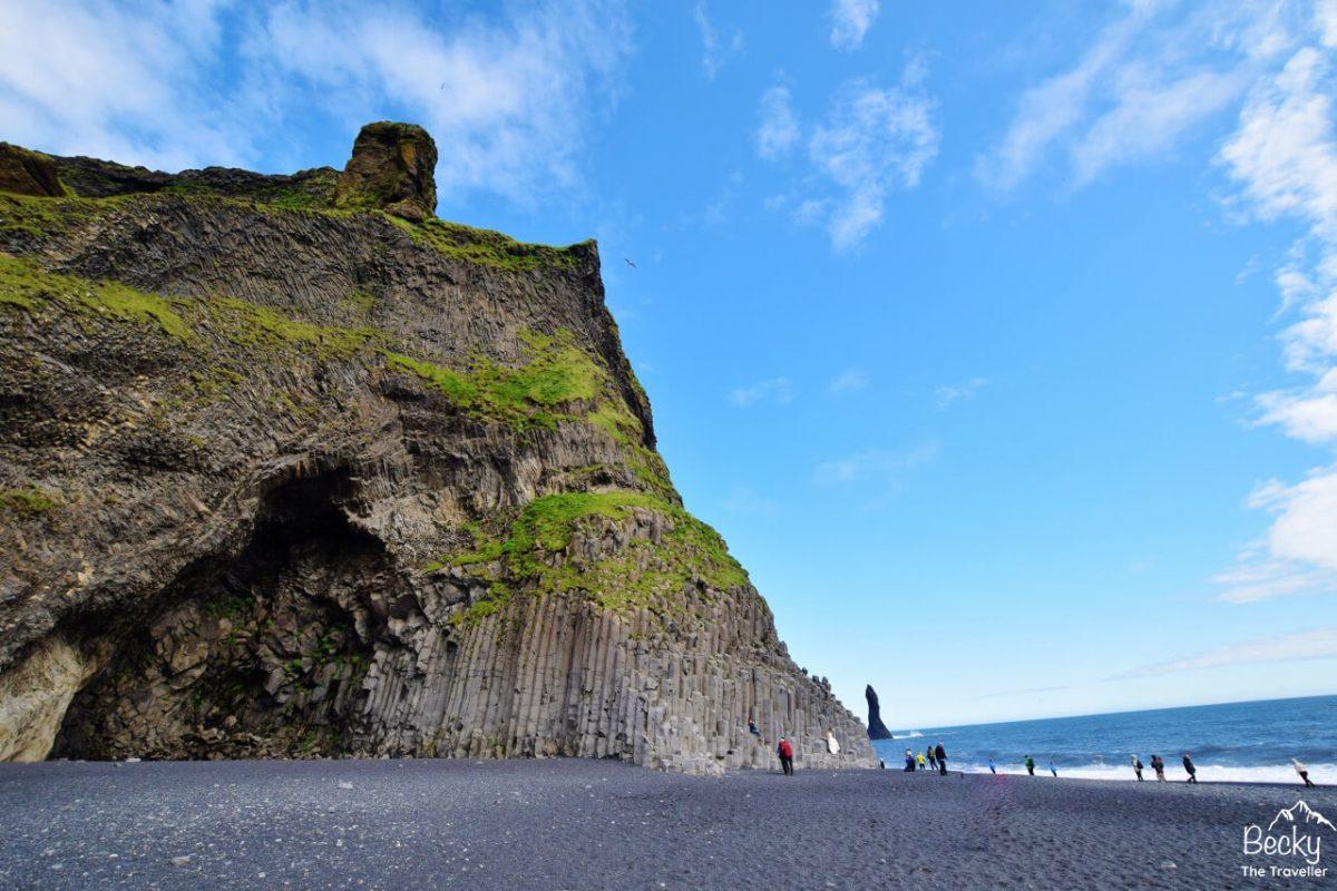 Reynisfjara Beach or Black Beach in Vik Iceland