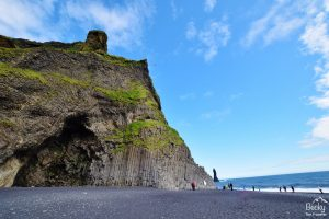 Reynisfjara Beach or Black Beach in Vik Iceland
