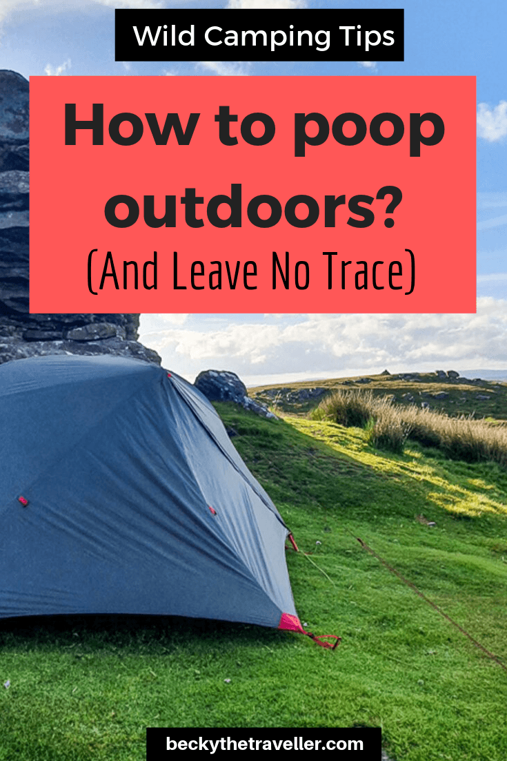 Wild camping toilet tips