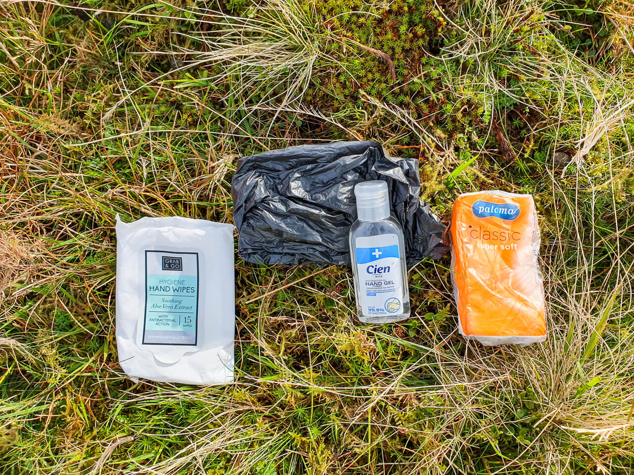 Wild camping toilet kit list