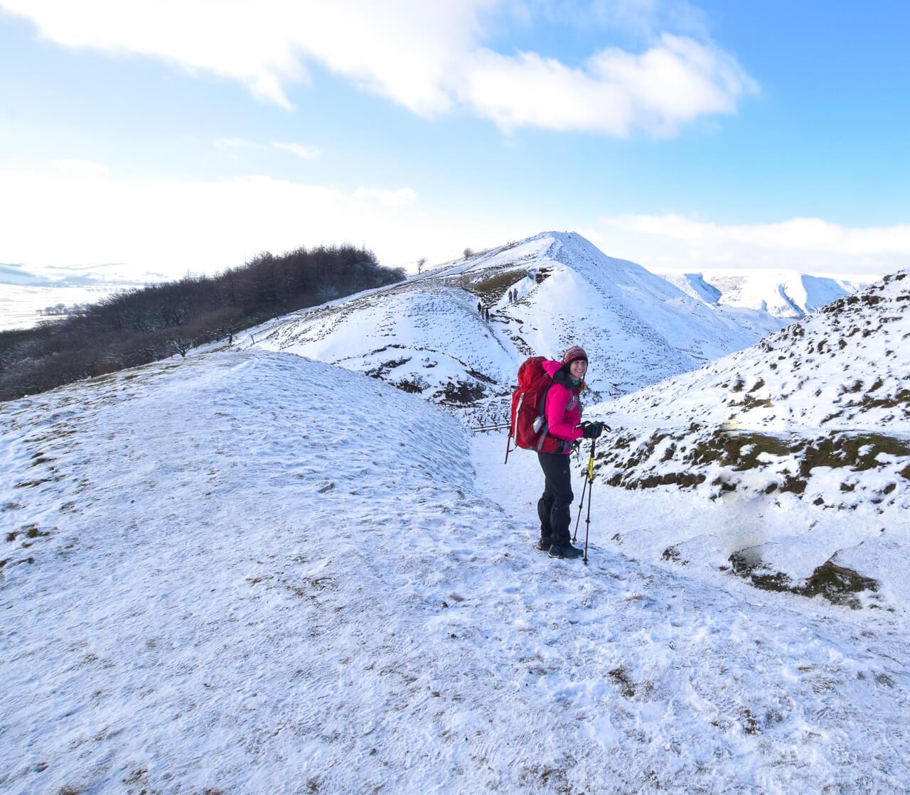 Mam Tor in the snow, Peak District