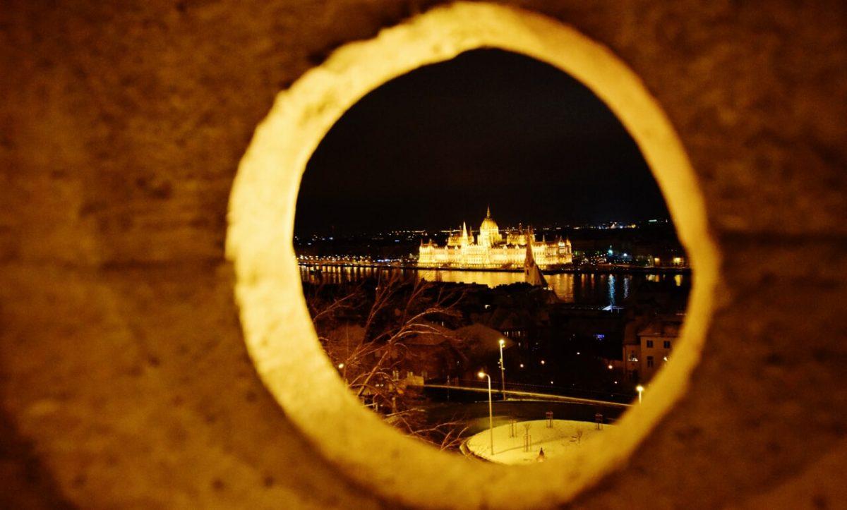 Budapest Hungary at night
