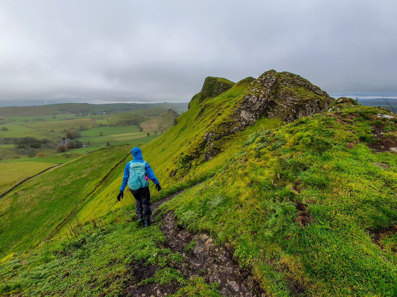 Walking across to Chrome Hill