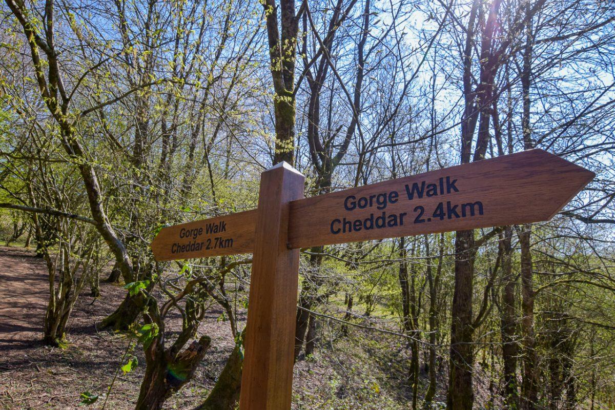 Cheddar Gorge sign post