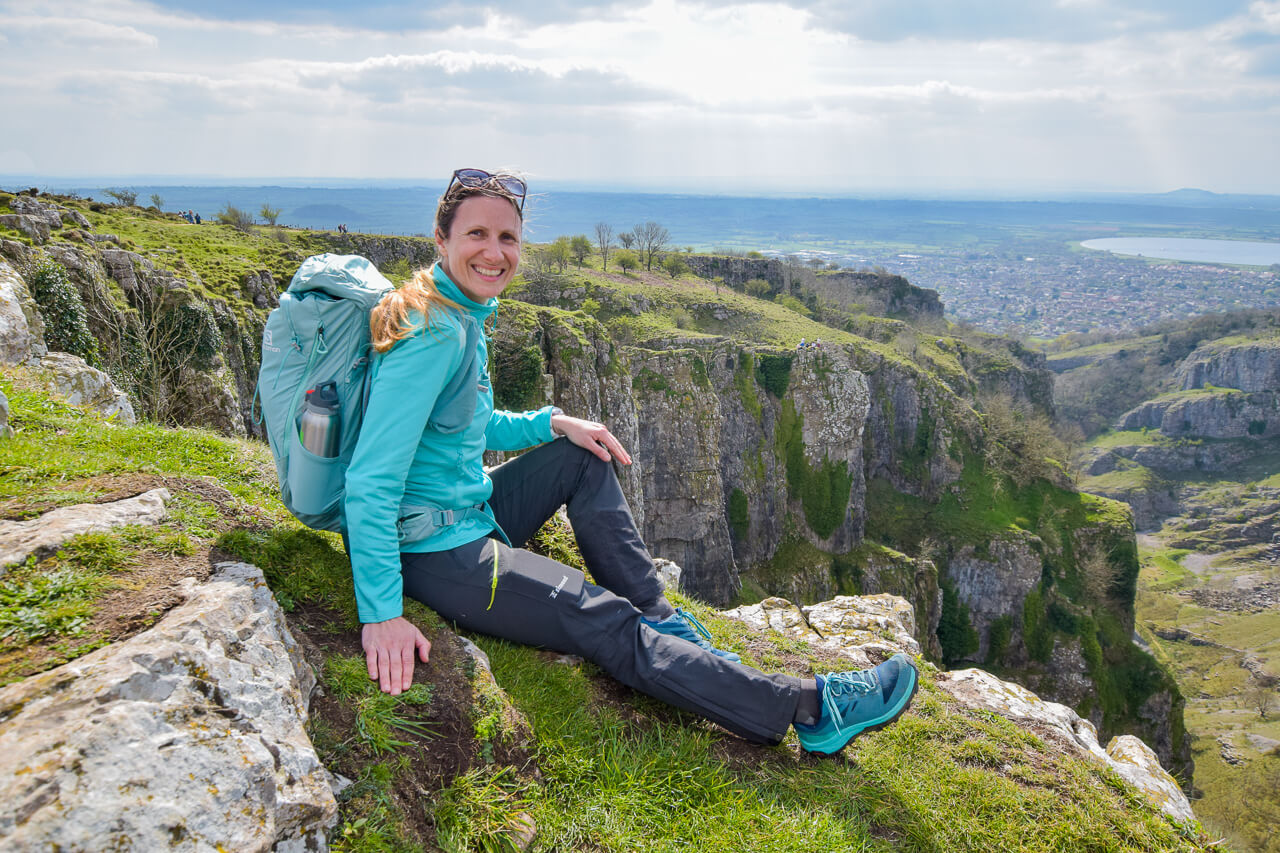Becky at Cheddar Gorge