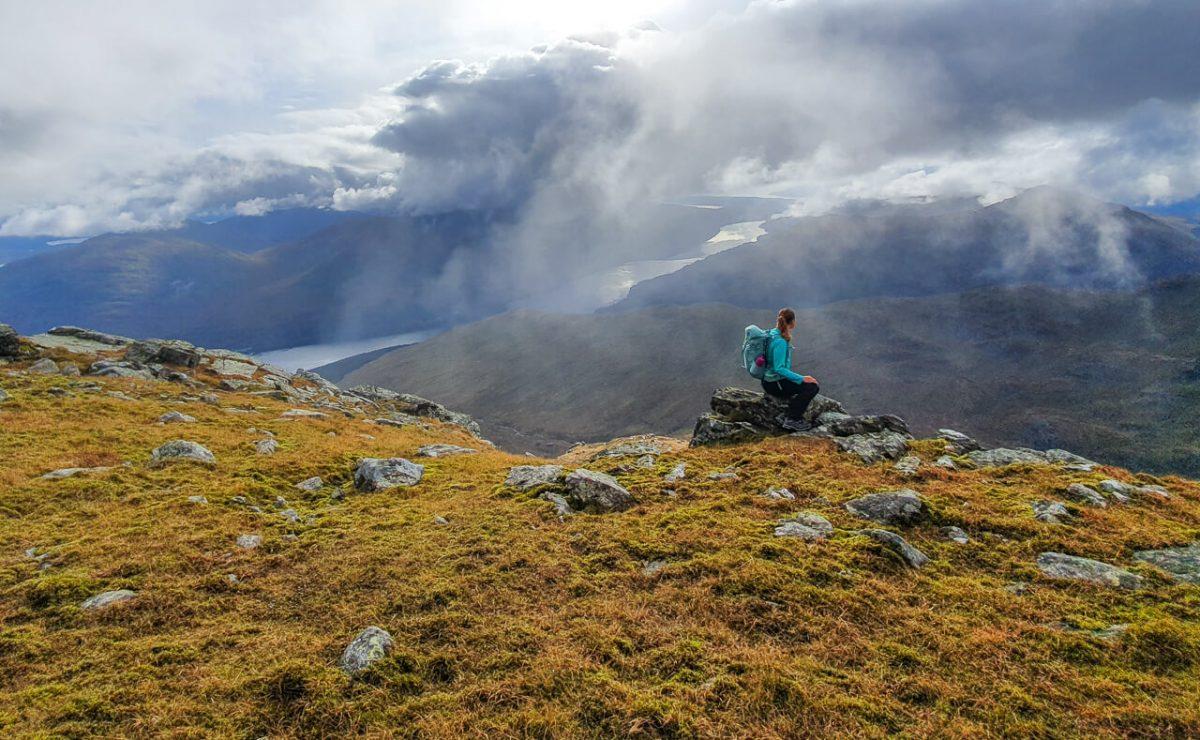 Hiking Ben Narnain in Scotland