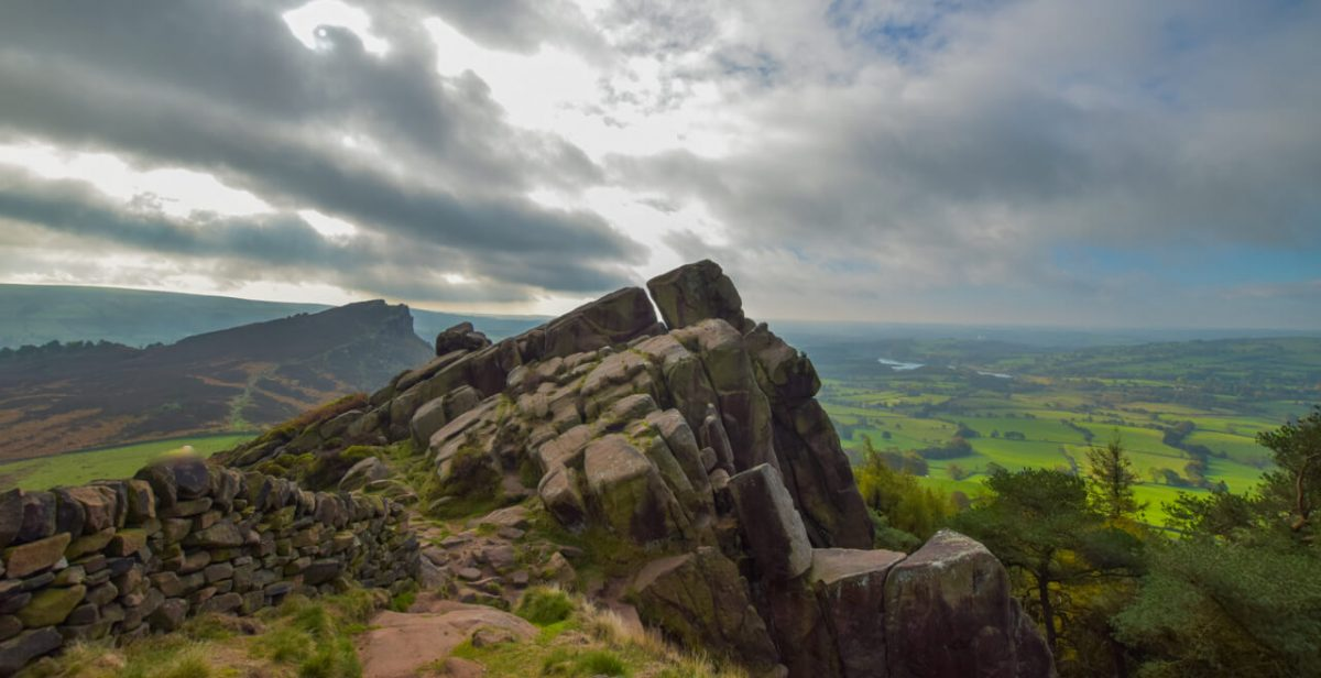 Gritstone Rocks on The Roaches Peak District