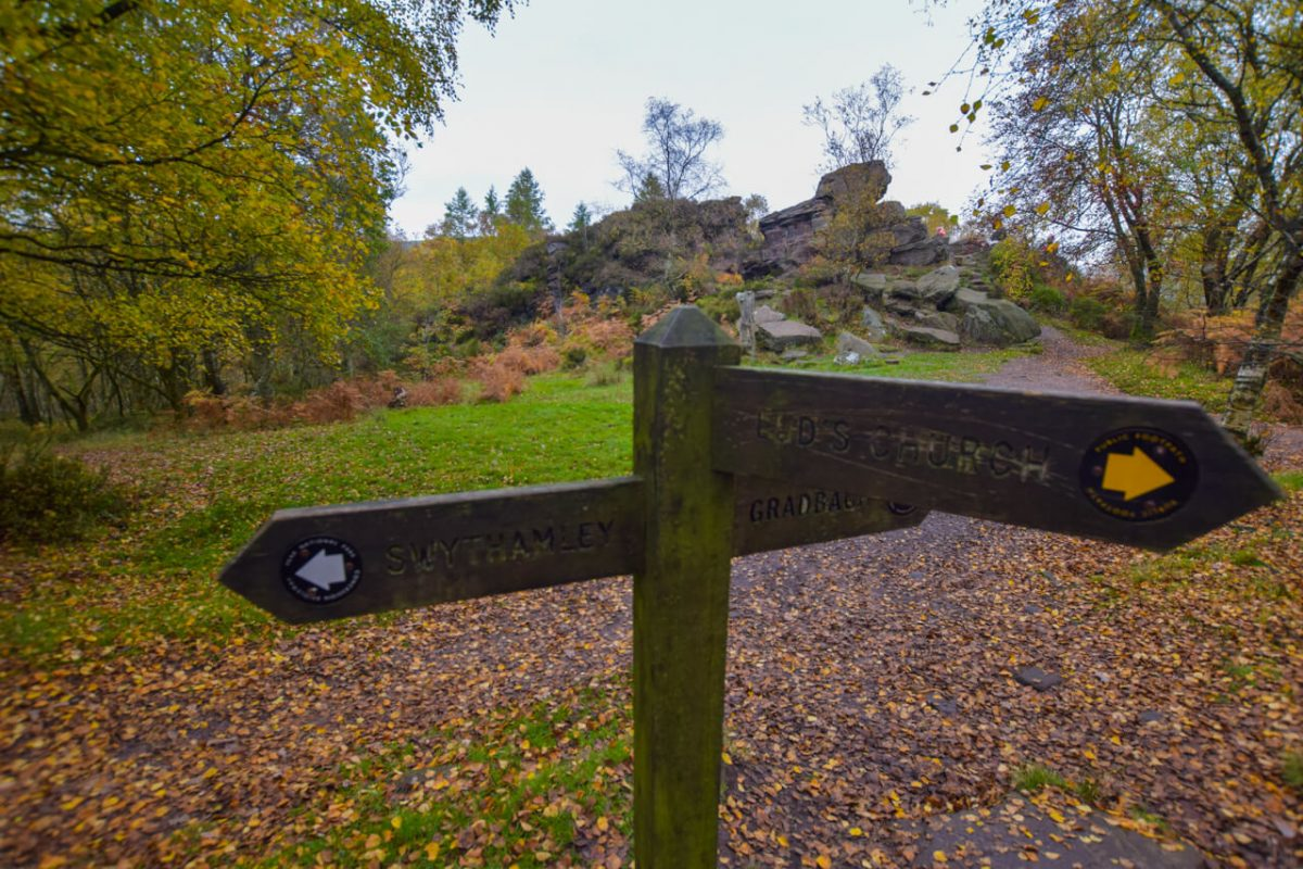 Signpost on The Roaches