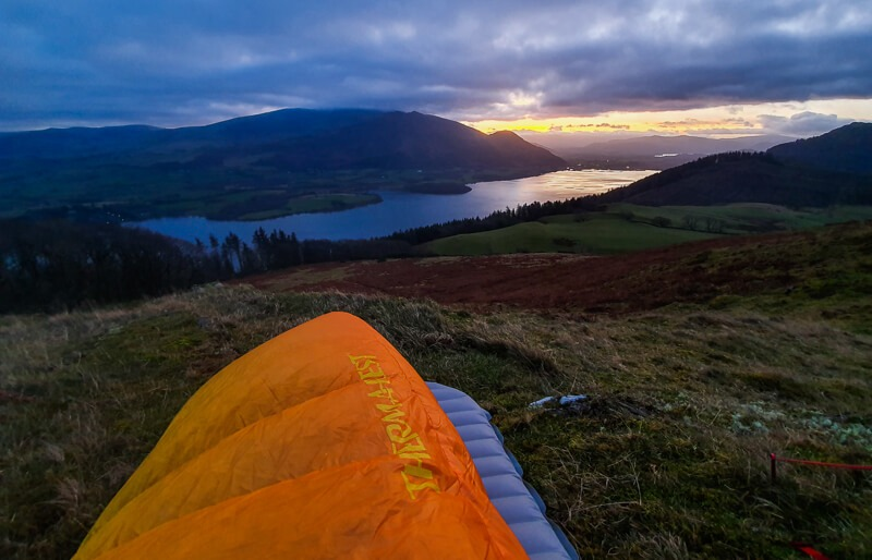 Thermarest Oberon Sleeping bag from tent