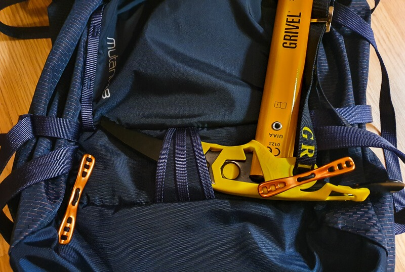 Ice Axe fitted on my Osprey backpack