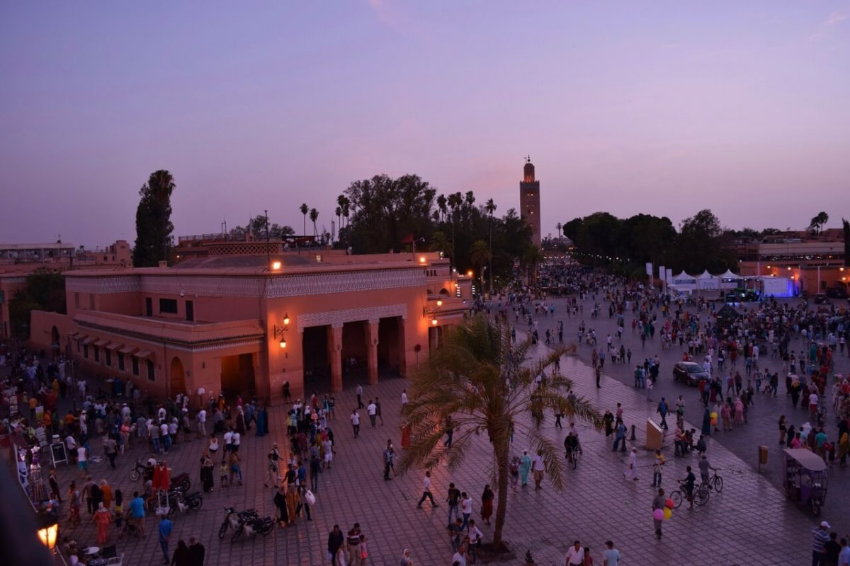 Marrakech main square in Morocco