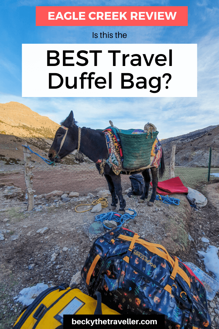 Mules in Morocco with duffel bag