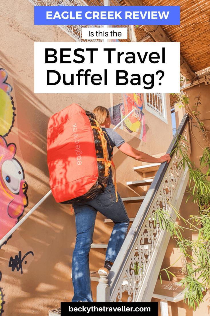 Eagle Creek duffel bag on Becky the Traveller