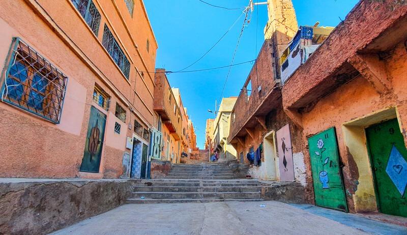 Agouti town near Atlas Mountains Morocco