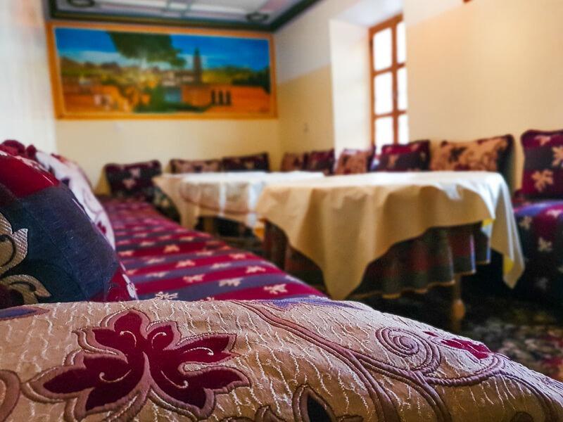 Social area at Moroccan Gite