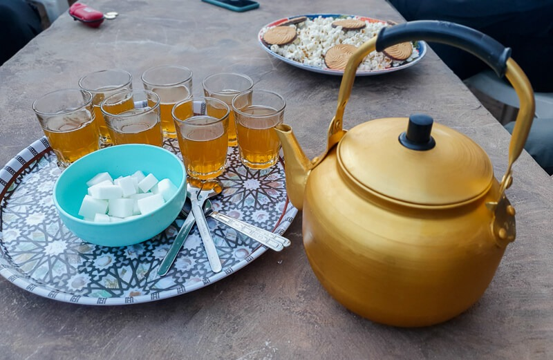 Moroccan mint tea in the mountains