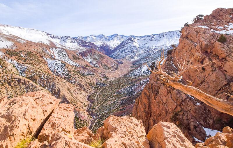 Views of the Mt M'Goun ridge