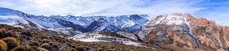 Panoramic views of the Atlas Mountains